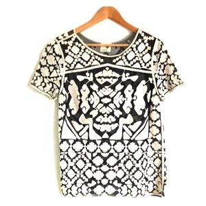 Anthropologie Everleigh Embroidered Top Tee Shirt